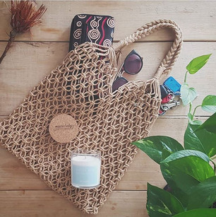 Macrame Tote available @ Market Fair