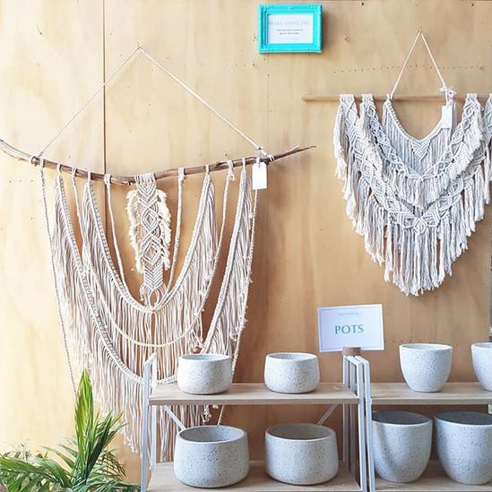 Macrababy Wall Hanging & Pots