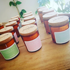 Macrame Soy Candles - Made with 100% soy wax - 45 hours burn time