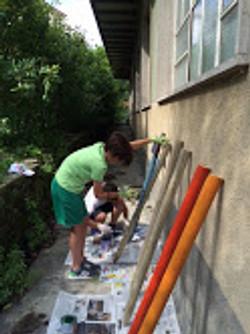 preparazione recinzione campo