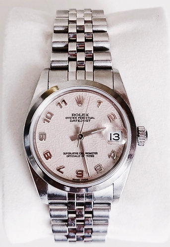 Rolex Midsize 78240 Stainless Steel with Arabic Numerals Jubilee Dial