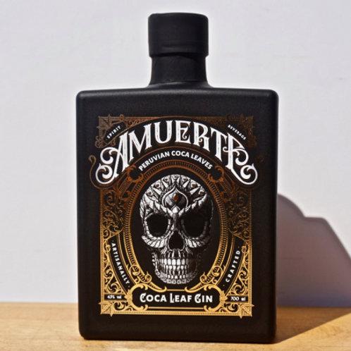 Gin - Amuerte Coca Leaf Gin Black Edition / 70cl / 43%