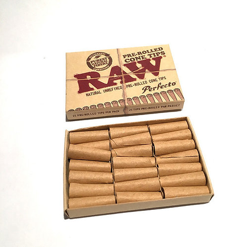Raw pre-rolled cone Tips 21
