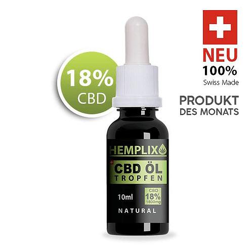 3x CBD Öl 18% Hemplix