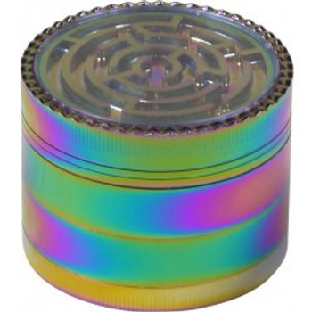 Grinder Metall Rainbow/Labyrinth 4-tlg.