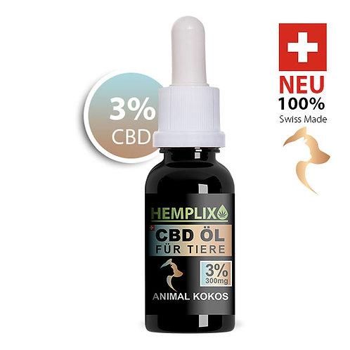 6 x 3% CBD Öl Hemplix Animal Kokos