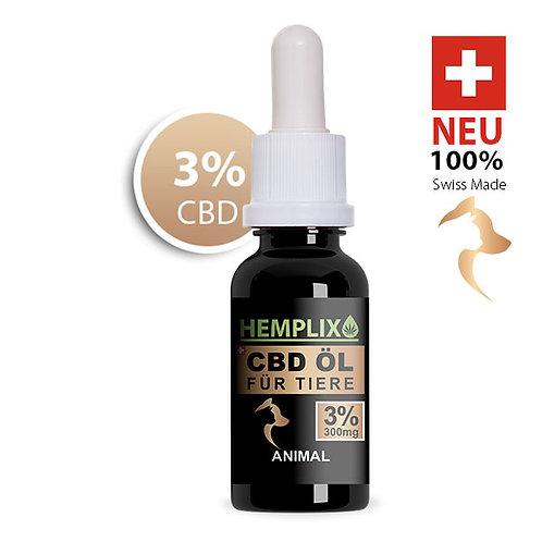 6 x 3% CBD Öl Hemplix Animal