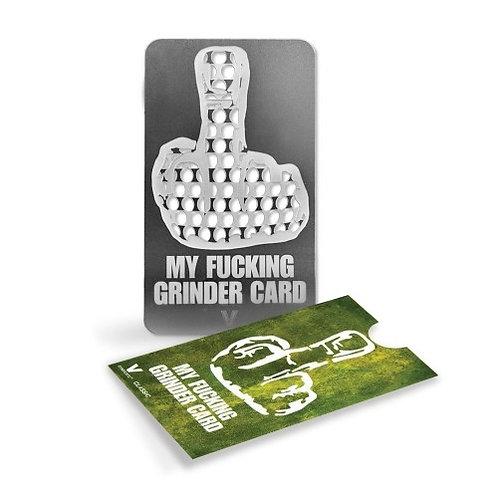 Grinder Card - middle finger