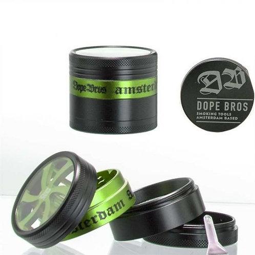 Grinder Dope Bros 50mm - 4-teilig Amsterdam grün