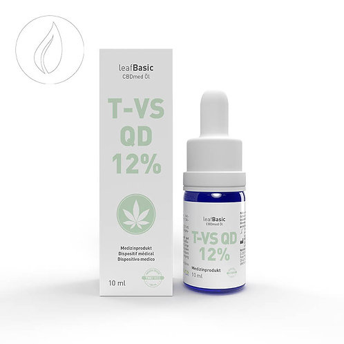 leafBasic CBDmed Öl T-VS QD 12% 10ml