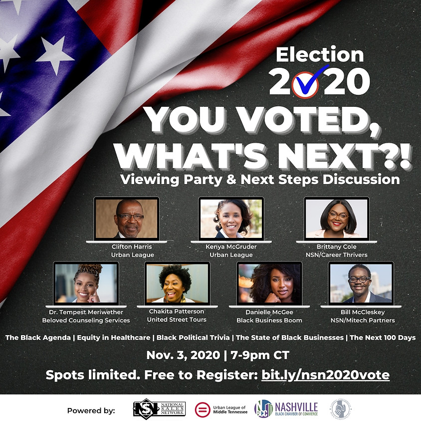 Election 2020:  You Voted, What's Next?!