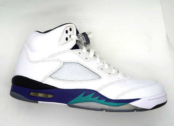 white/ grape Jordan 5s
