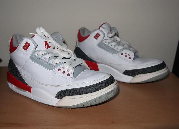 Fire Red 3 Jordans