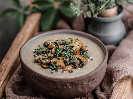 Sweet Potato & Mushroom Soup