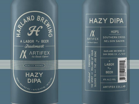Harland Brewing & ARTIFEX collaboration - Hazy Double IPA