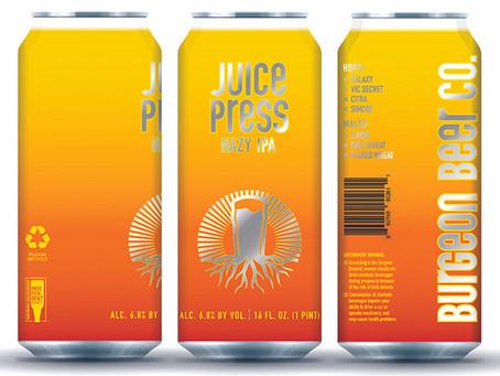Burgeon Beer Co. - Juice Press Hazy IPA