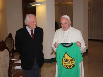 El Papa Francisco a favor del medio ambiente, el Derecho Humano al Agua y en contra de su Privatizac