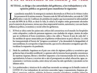 RENTA BÁSICA Y TRABAJO DIGNO, POR EL DERECHO A LA SALUD Y LA VIDA