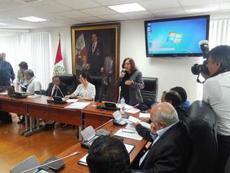 Reunión del SUTESAL con Presidenta de la Comisión de Vivienda Marisa Glave y Organizaciones Sociales