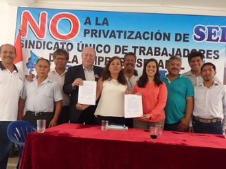 Frente Amplio se suma a la Campaña en contra de la Privatización de Sedapal