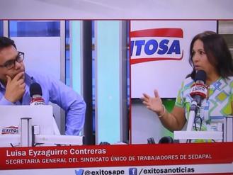 """SUTESAL en Radio Exitosa: """"Gobierno prepara una Privatización encubierta de Sedapal"""""""
