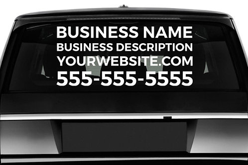 XL Business Decal - Back/Side Window