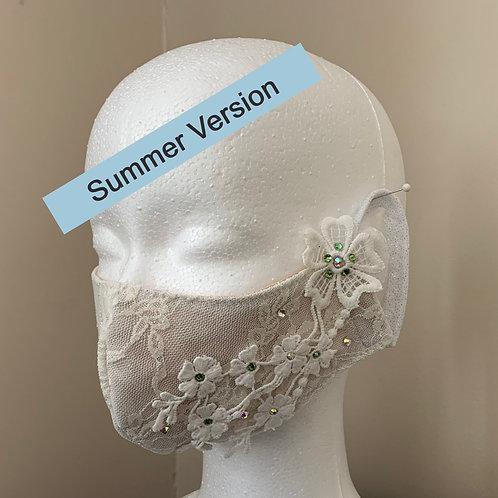 8. White / White lace / green stone