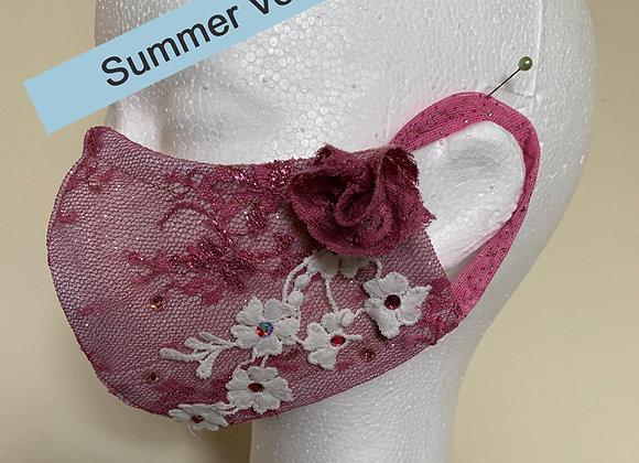 4. Pink Red / White Flower