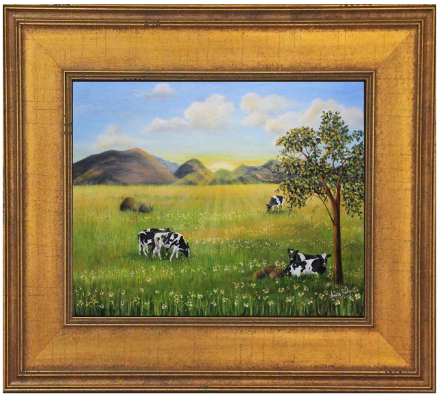 Morning-Graze-framed-gold-Anita-Badami