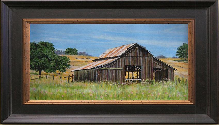 Old Barn Painting by Anita Badami