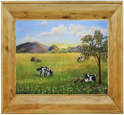 Morning-Graze-framed-pine-brown-Anita-Badami