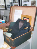Lucyna's Treasure Jan Artymiuk's Case displaying his Airforce uniform and personal items