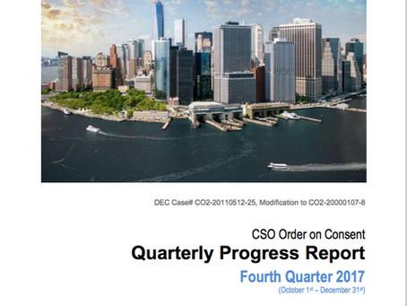 The City's CSO LTCP Quarterly  Progress Report
