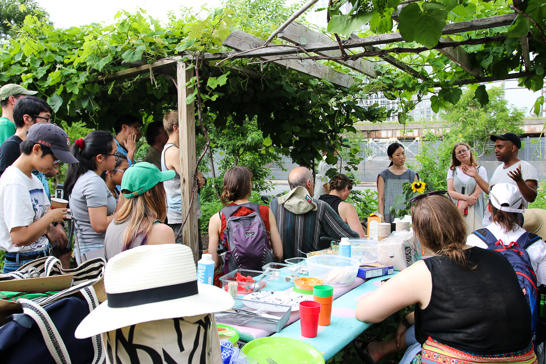 Artist talk at Smiling Hogshead Ranch after the immersive walking tour