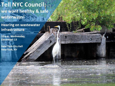 December 13th Public Hearing on Oversight of NYC Wastewater Systems