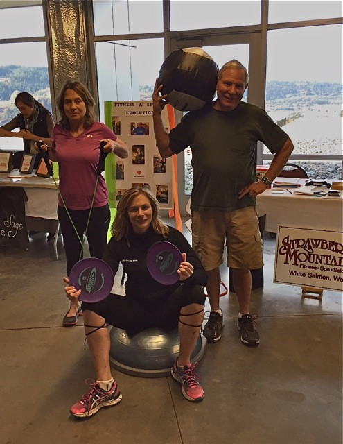 Mayor Dave Poucher and his wife Jane promoting fitness