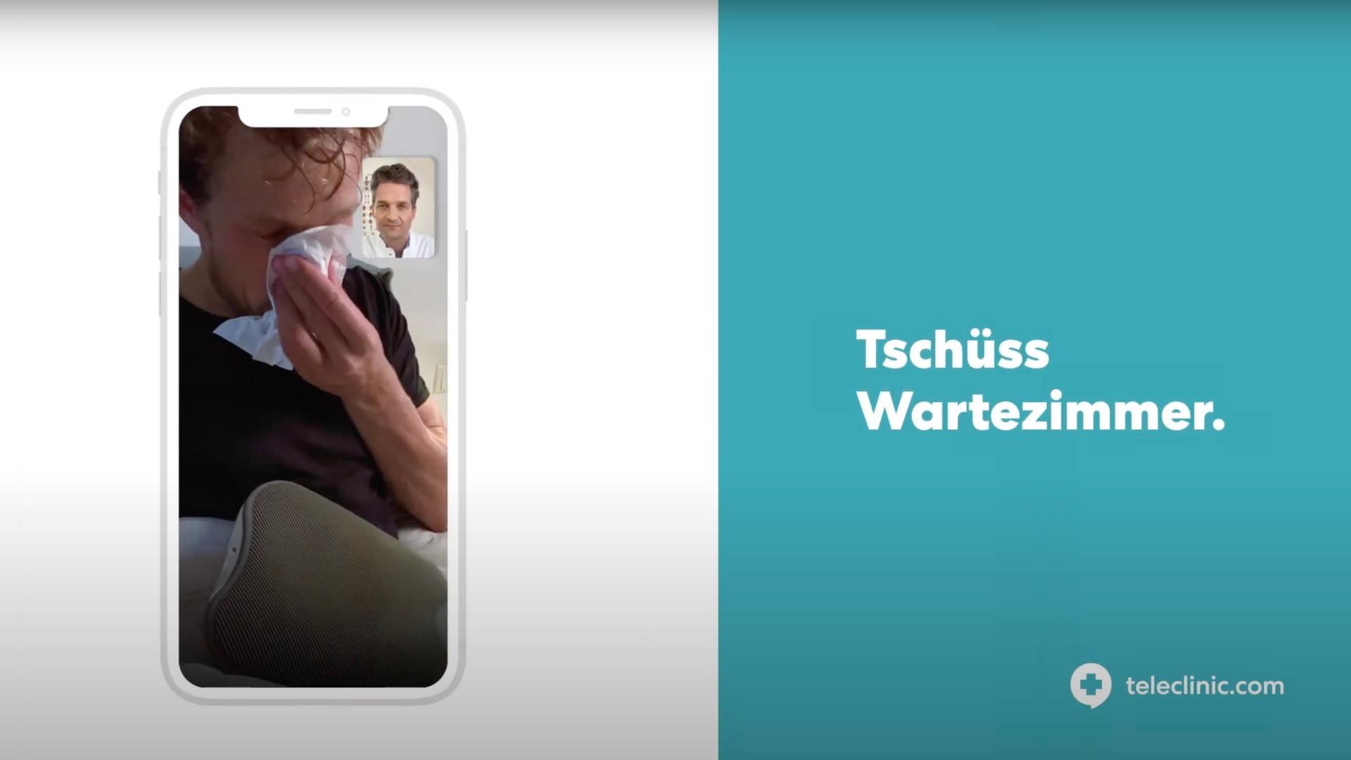 Teleclinic, Arzt, Patient, Werbung, TV, Model, Schauspieler, Andreas Müllner, krank, Medizin, Medikamente, Werbespot