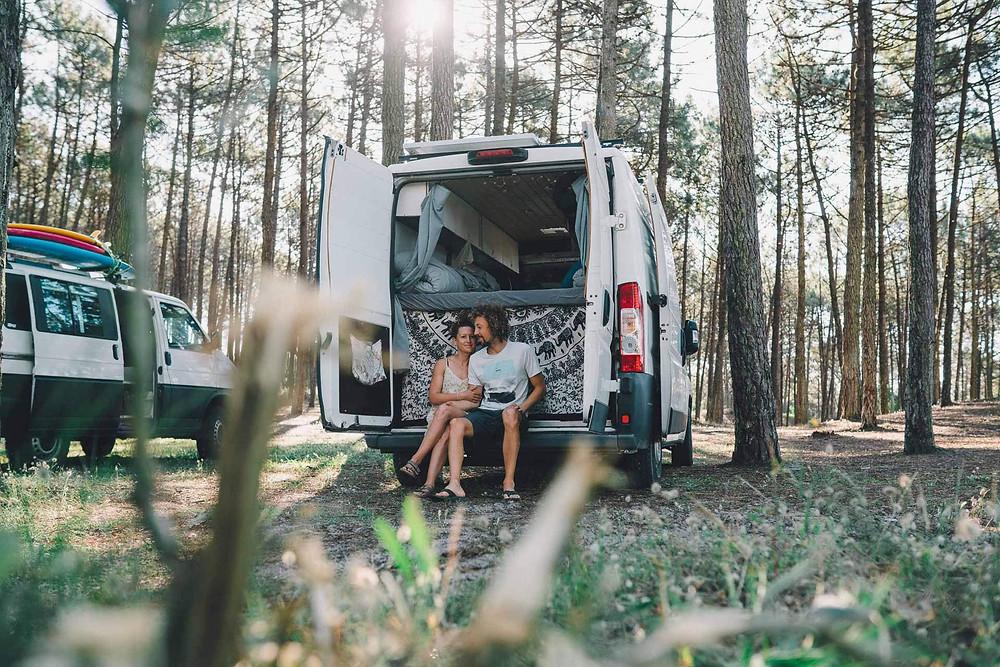 Kate und Andi mit Ihrem Citroen Jumper Kastenwagen Ausbau