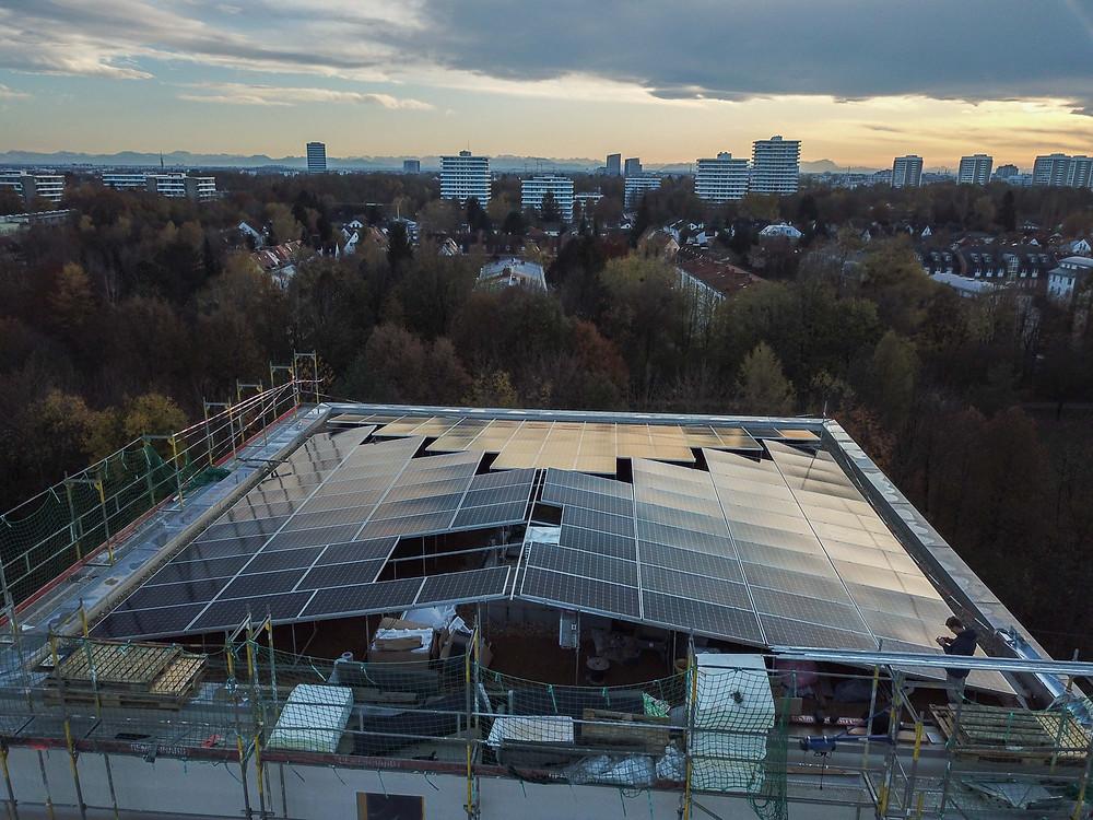 Eines von Rubens Großprojekten über den Dächern Münchens