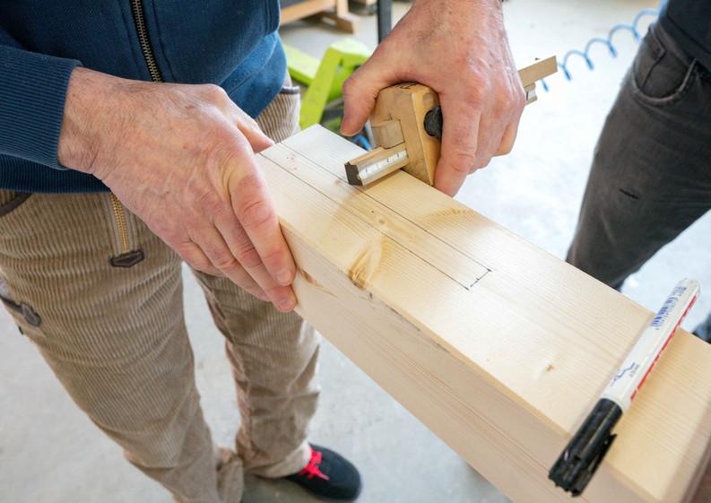 Detailansicht Holzarbeiten Tiny Haus