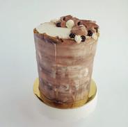 Wood grain textured chocolate cake
