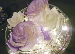 Wedding Flower Lit Table Centre Piece