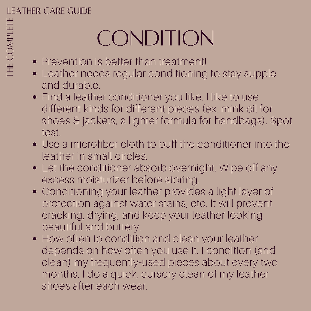 Caring for your leather garments