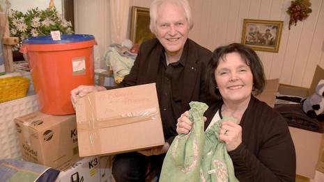 HNA - Fritzlarer sammeln Geschenkboxen für Menschen in Uganda