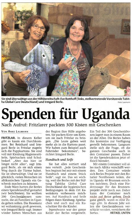 Spenden für Uganda