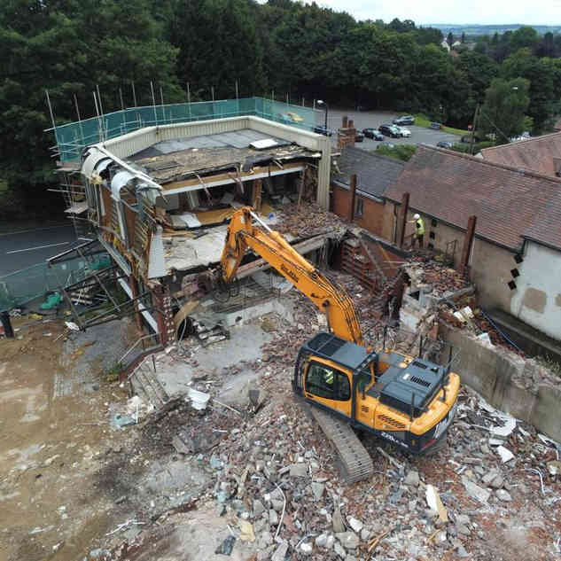 Demolition Project in Nottinghamshire | Drone Shot