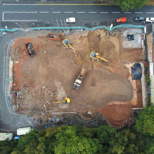 Demolition Project in Nottinghamshire | Drone Shot