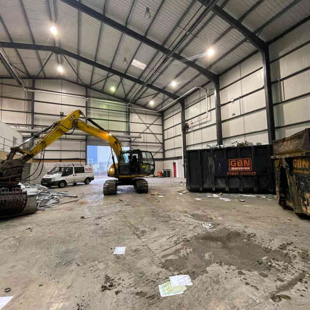 Warehouse Commerical Soft Strip Demolition | Jim Wise Demolition