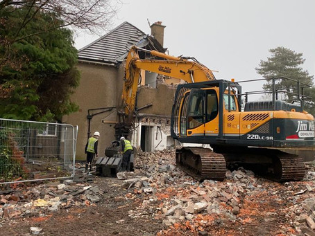 Demolition of property on Allerton Road, Liverpool