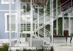 Caixa de Vidro - Gazebo no Jardim
